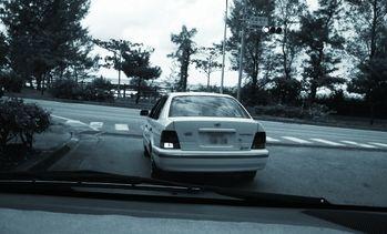 交通事故が起こるパターン3:交差点での左折時